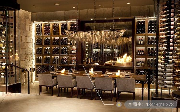 餐厅不锈钢红酒柜