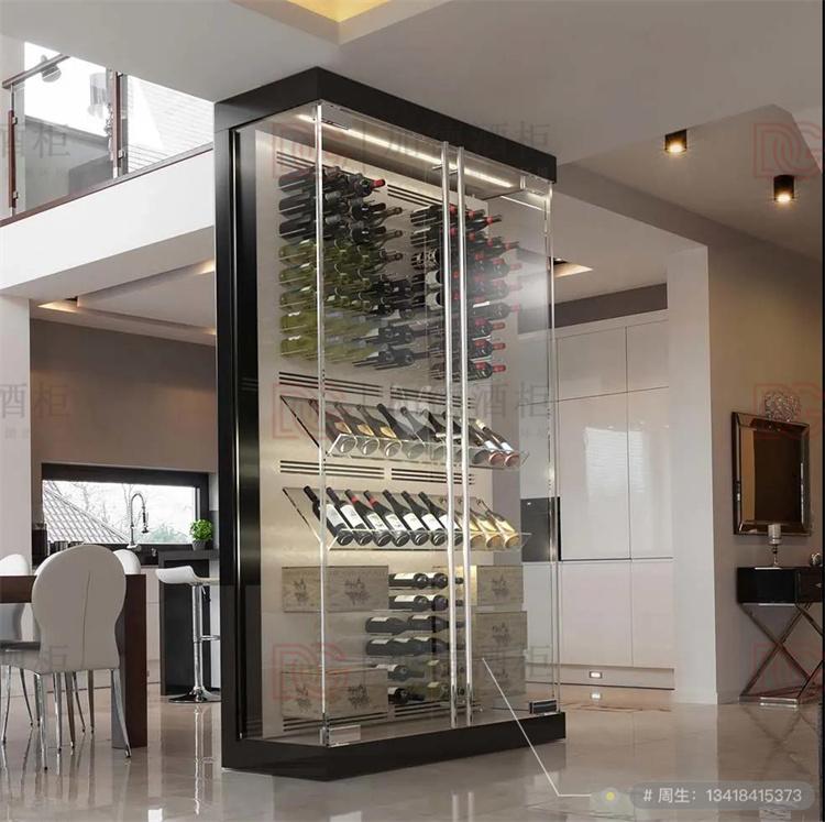 隔断不锈钢玻璃酒柜