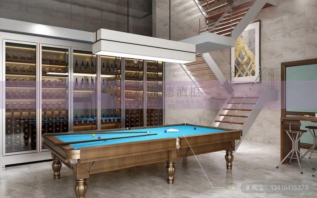 台球室不锈钢酒柜